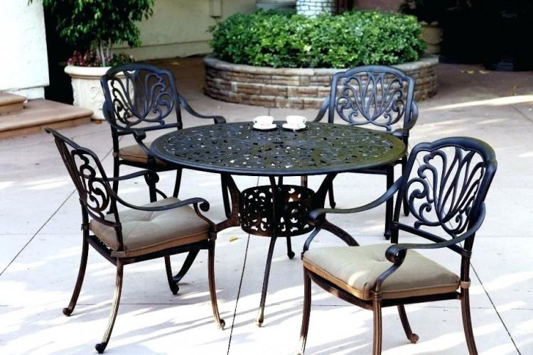by luxury cast aluminum patio furniture round dining table set kijiji