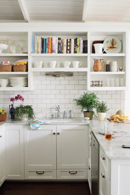 Gray and White Kitchen