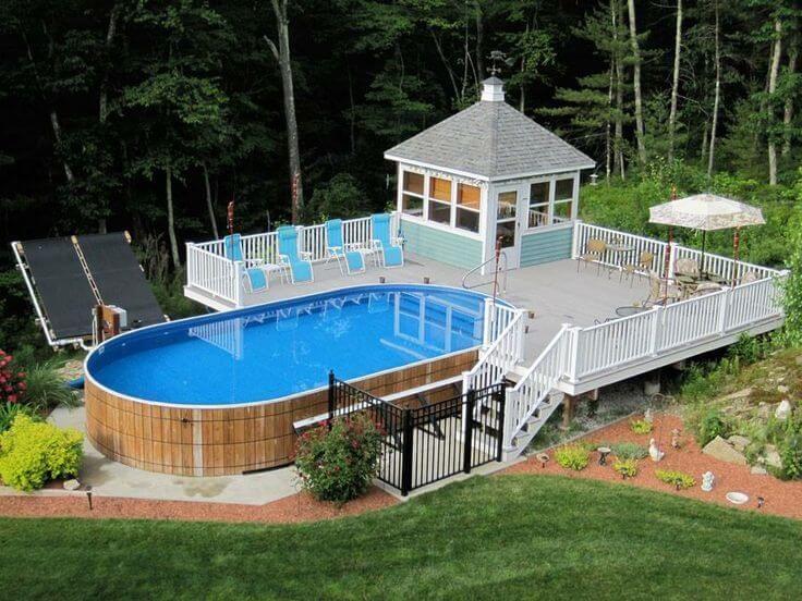 Medium Size of Backyard Swimming Pool Deck Ideas Above Ground Circular Pool  Deck Plans Inground Pool