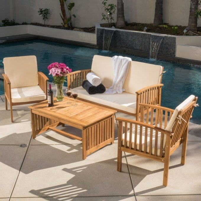 christopher knight patio furniture sale cast aluminum bronze 5 piece home  reviews