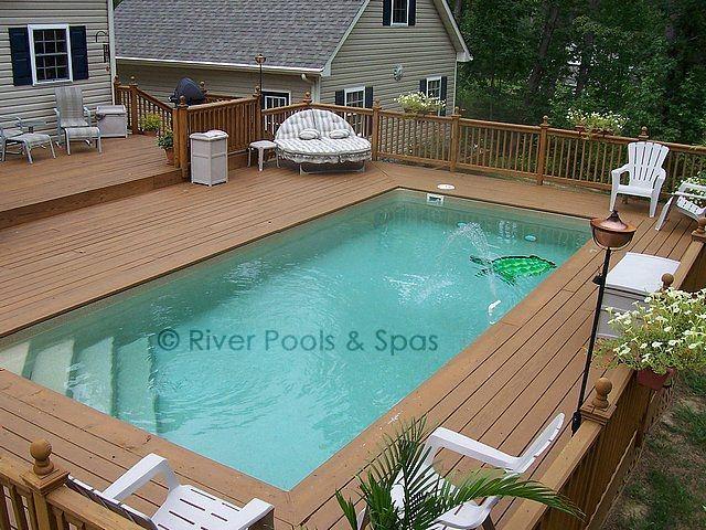 The Lelani is a wonderful fiberglass pool shape