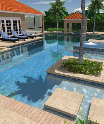pool landscape design