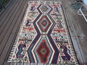 Gabbeh Persian rug hand made all wool Picturial by wilshirerugs, $450