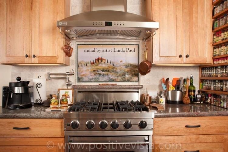 everything kitchen installed tuscan tile backsplash  designs