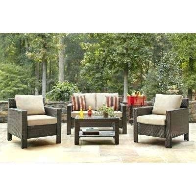 com : Wisteria Lane Outdoor patio furniture sets, 7 PC Wicker Sofa  Set Garden Rattan Sofa Cushioned Seat with Coffee Table, Brown : Garden &  Outdoor