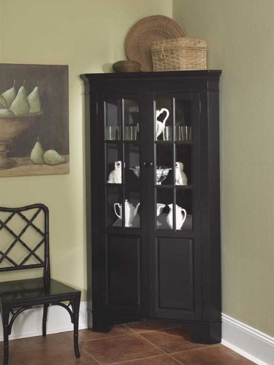 sliding door transitional curio cabinet rooms