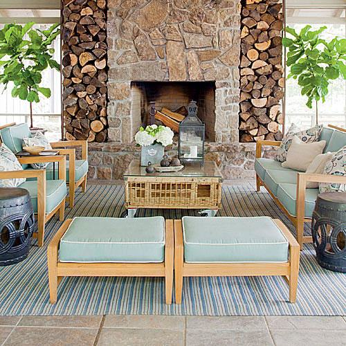 to your outdoor living space, take a look at the beautiful outdoor  fireplaces and fire pits below to gather design ideas for your own outdoor  hearth