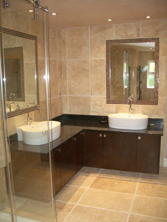 l shaped vanity units master transitional bathroom by