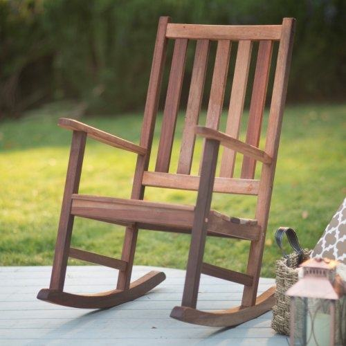 Patio Rocking Chairs Wood Within Outdoor Wooden Decor 18