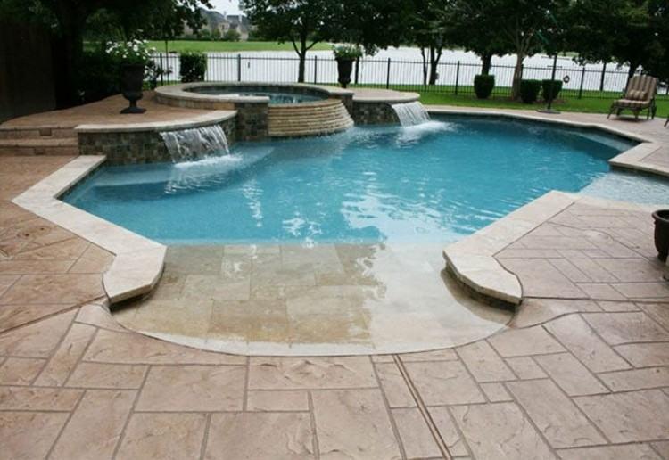 Sun Deck on Inground Pool