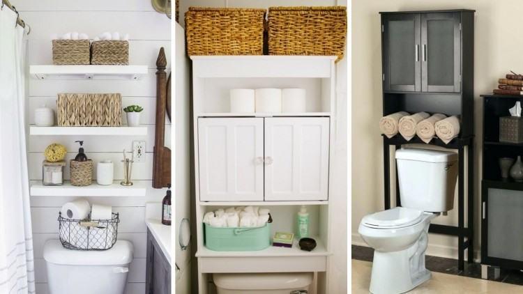 43+ Elegant and Simple Bathroom Storage Ideas in The Next 2019 | Creative Bathroom  Storage Ideas in 2019 | Pinterest | Bathroom, Toilet storage and Bathroom